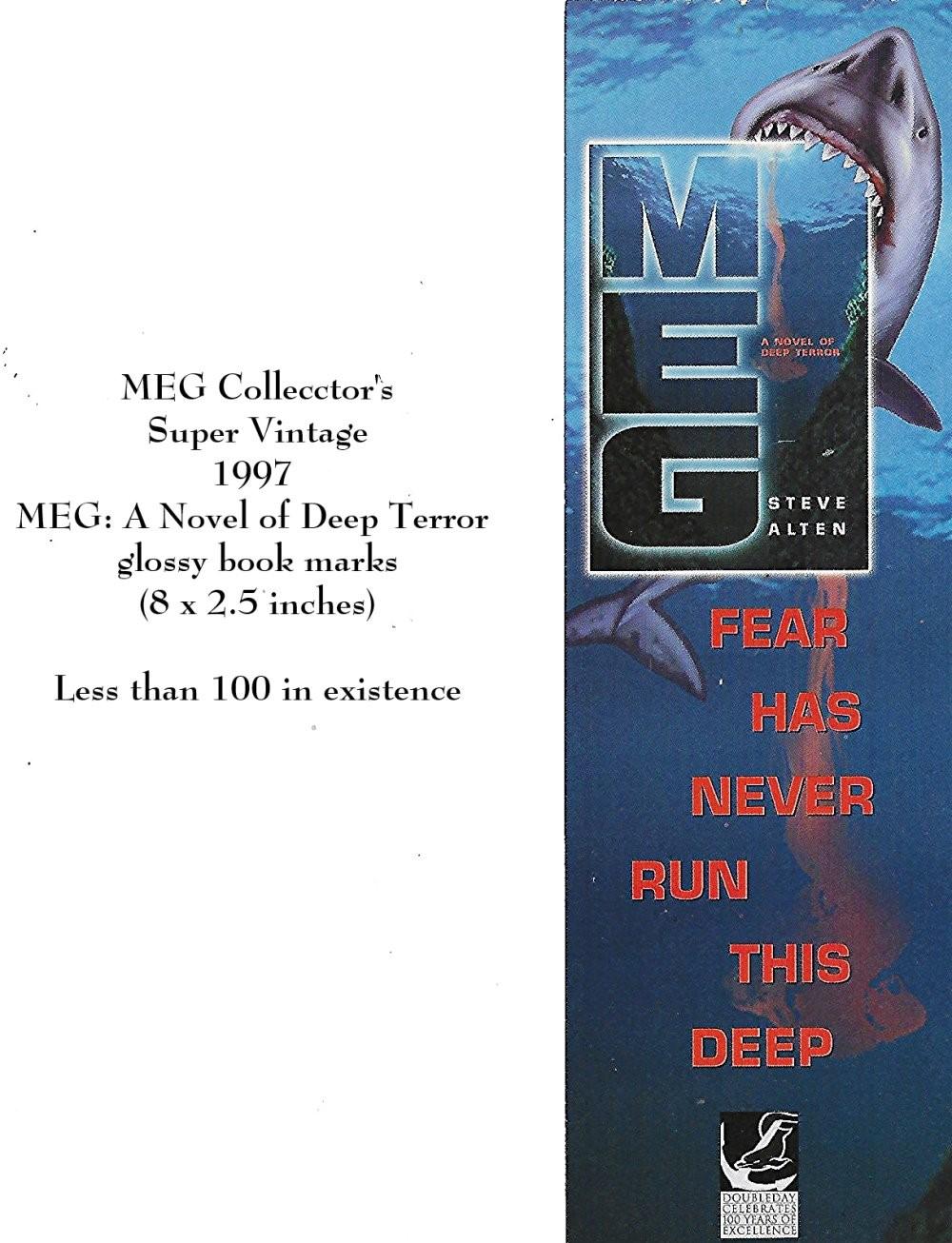 MEG: A Novel of Deep Terror glossy book marks
