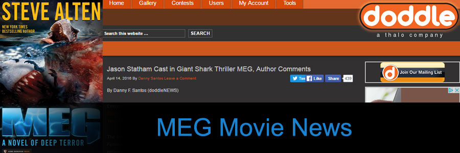 Jason Statham Cast in Giant Shark Thriller MEG: Steve Alten Comments