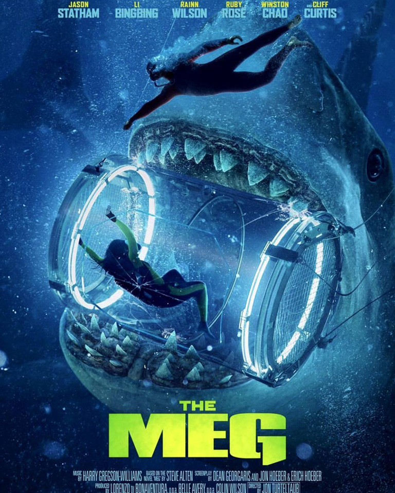 MEG Movie Poster | Li Bingbing in shark container