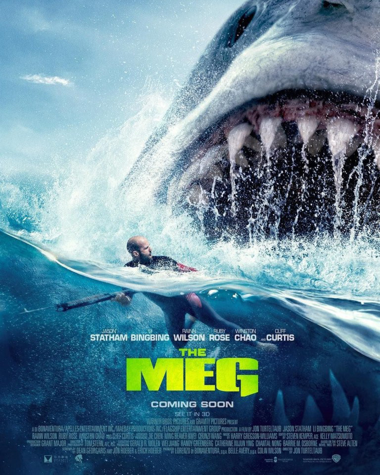 MEG Movie Poster | Jason about to be swallowed